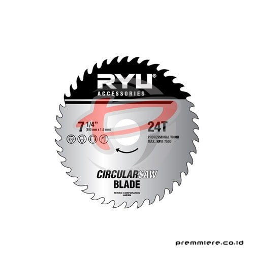 CIRCULAR SAW BLADE 24TEETH 180mm x1.6mmx24T 4""