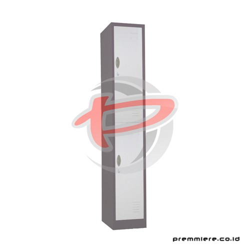 Locker 2 Pintu [CC-A2T BROWN WHITE]