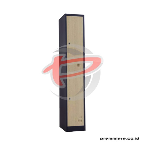 Locker 2 Pintu [CC-A2T WOOD BLACK]