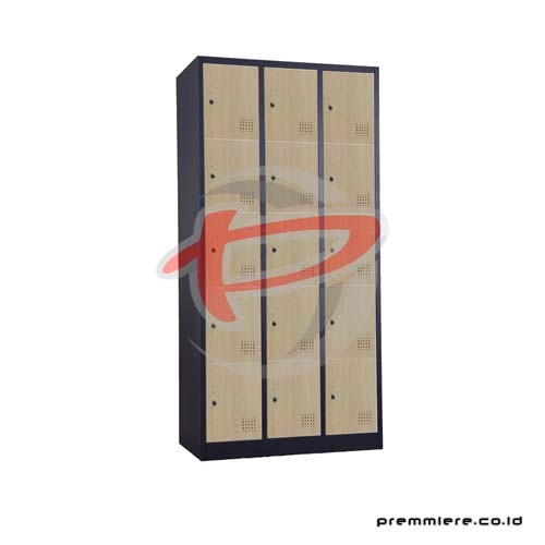 Locker 15 Pintu [CC-C15T WOOD BLACK]