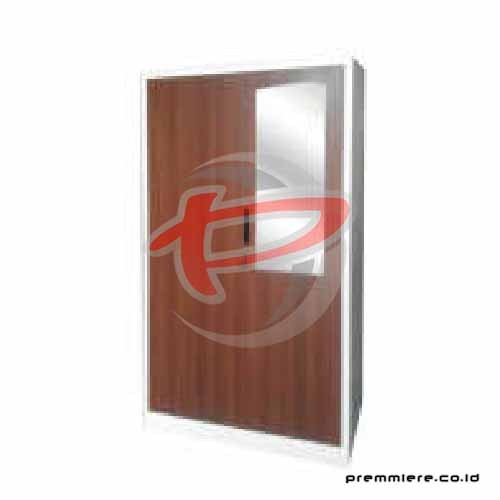 Almari Pintu Ayun (Full Height) [BZ-ZY01 WOOD DARK]