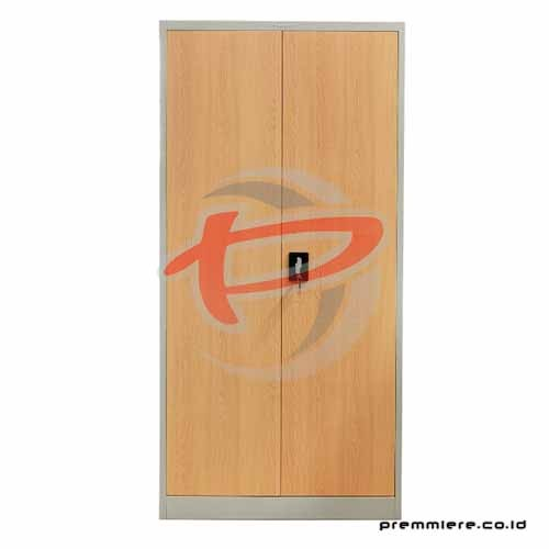 Almari Pintu Ayun (Full Height) [CC-DZA LIGHT GREY + WOOD]