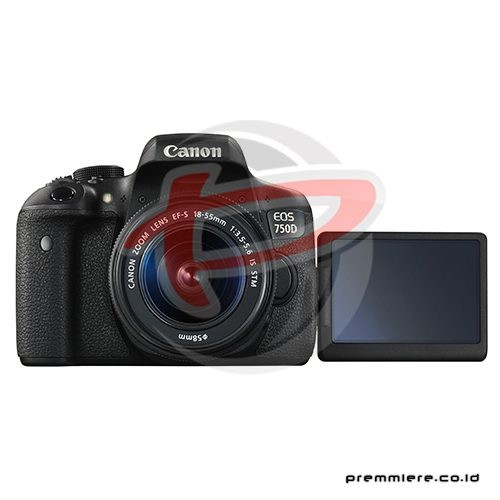 Digital EOS 750D with lens 18-55mm STM Wifi + memory 32gb