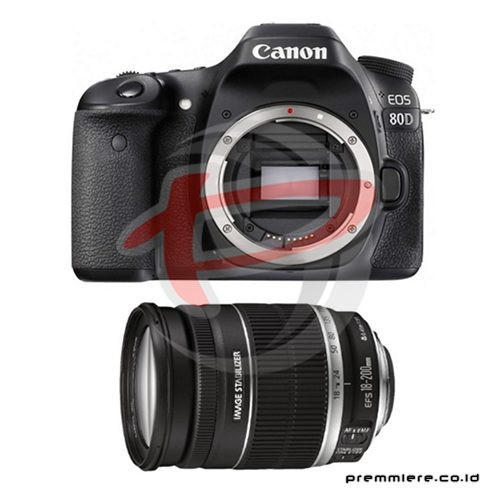 Digital EOS 80D with lens 18-200mm IS Wifi + memory 16gb