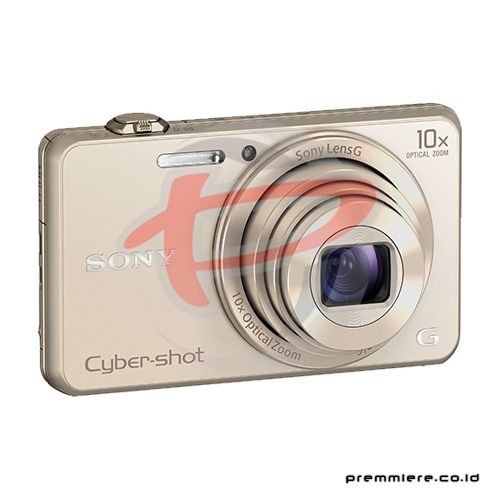 Cybershot DSC-WX220 Compact Camera 10x Optical Zoom - Gold with memory 8GB