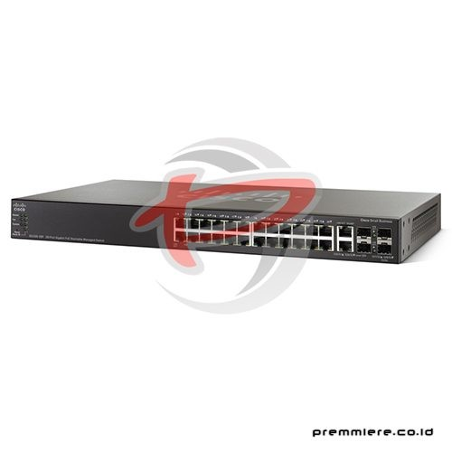 28-port Gigabit POE Stackable Managed Switch [SG500-28P-K9-G5] with 12 Months Smartnet