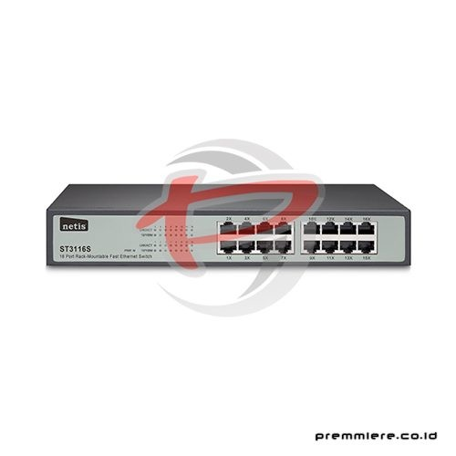 16 Port Rack-Mountable Fast Ethernet Switch [ST3116S]