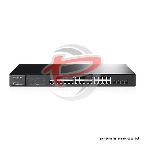 JetStream 24-Port Gigabit L2 Managed Switch with 4 Combo SFP Slots [TL-SG3424]