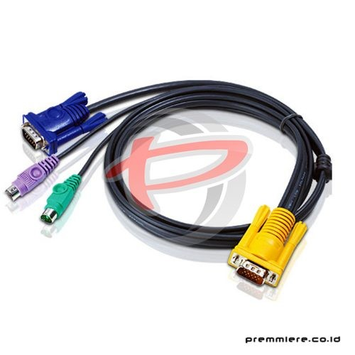 1.8M PS/2 KVM Cable with 3 in 1 SPHD (2L-5202P)