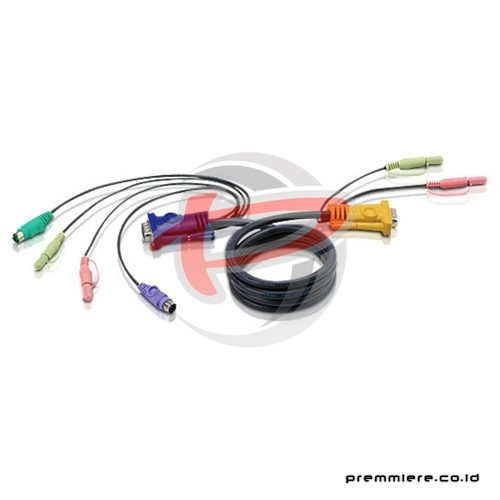 1.2M PS/2 KVM Cable with 3 in 1 SPHD and Audio (2L-5301P)