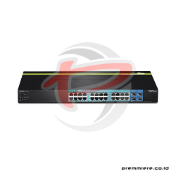 TRENDNET 24-PORT GIGABIT WEB SMART POE+ SWITCH POWER BUDGET WITH 4 SFP SLOTS [TPE-2840WS]