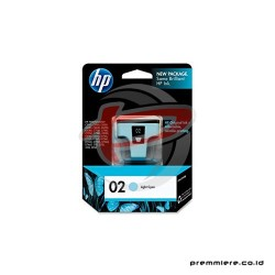 HP 02 AP LIGHT CYAN INK CARTRIDGE [C8774WA]