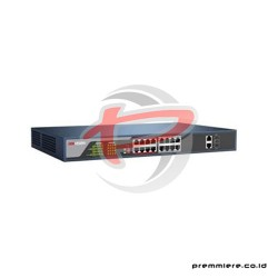 HIKVISION 16-PORTS 100MBPS UNMANAGED POE SWITCH [DS-3E0318P-E]