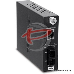 TRENDNET 100BASE-TX TO 100BASE-FX SINGLE-MODE SC FIBER CONVERTER (30KM) [TFC-110S30]