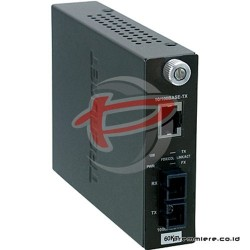 TRENDNET 100BASE-TX TO 100BASE-FX SINGLE-MODE SC FIBER CONVERTER (60KM) [TFC-110S60]