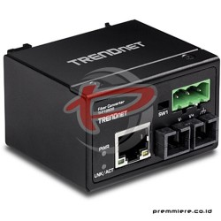 TRENDNET HARDENED INDUSTRIAL 100BASE-FX SINGLE-MODE SC DIN-RAIL FIBER CONVERTER (30KM) [TI-F10S30]
