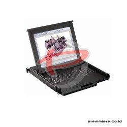 AUSTIN HUGHES 17 INCH LCD CONSOLE WITH KVM SWITCH 8 PORT [RKP117-802E]