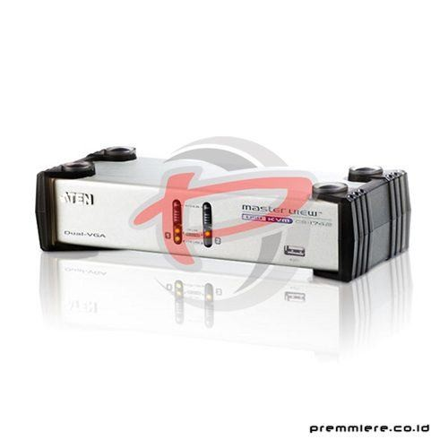 2-Port USB VGA Dual Display/Audio KVMP™ Switch [CS1742]