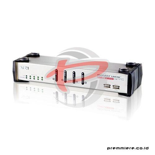 4-Port USB VGA/Audio KVME™ Switch with Etnernet Hub [CS1774]