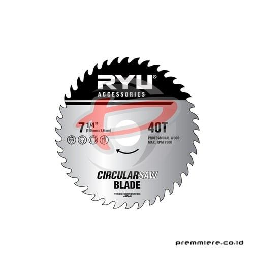 CIRCULAR SAW BLADE 40TEETH 180mmx1.6mmx40T 4""