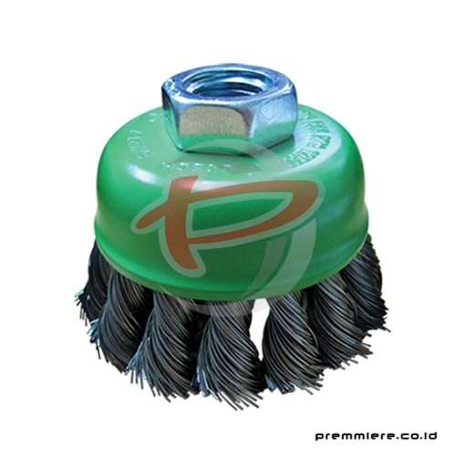 CUP BRUSH TWIST 75MM 0.5MM 4""