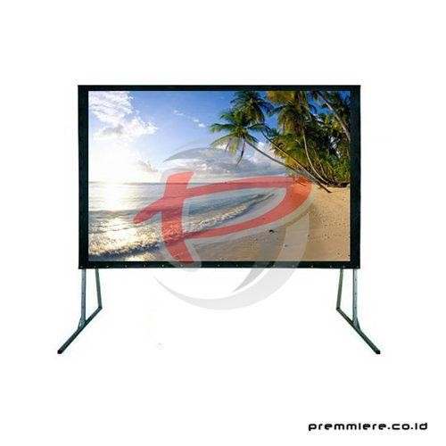 Screen Projector Fast Fold Front & Rear 200""