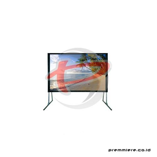 "Screen Projector Fast Fold Front White 300"" + Frame (4:3)"