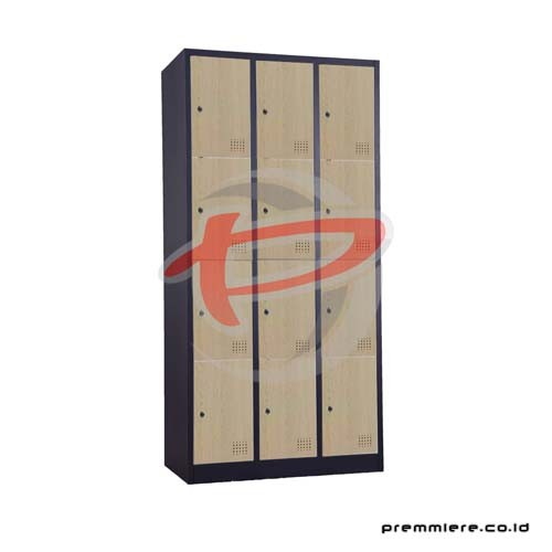 Locker 12intu [CC-C12T WOOD BLACK]