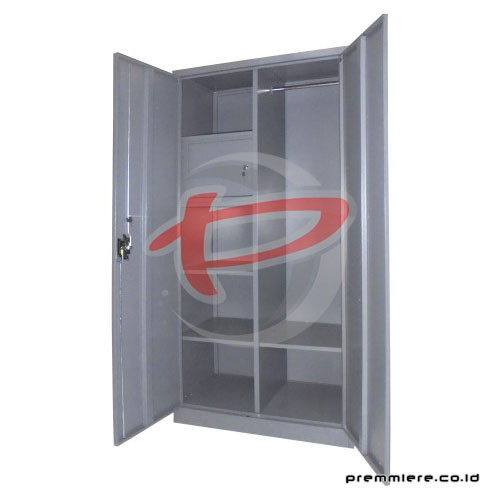 Almari 2 Pintu Ayun Plat + Locker (Full Height) [CC-DZA]
