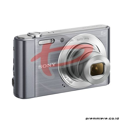 Cybershot DSC-W810 Compact Camera 6x Optical Zoom - Silver with memory 8GB