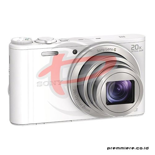 Cybershot DSC-WX350 Compact Camera 20x Optical Zoom - White with memory 8GB