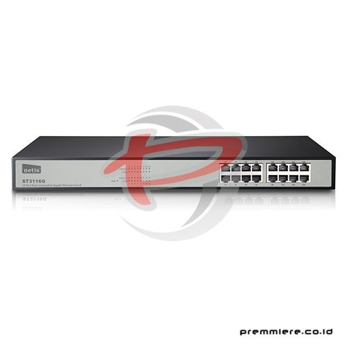 16 Port Gigabit Ethernet Rackmount Switch [ST3116G]