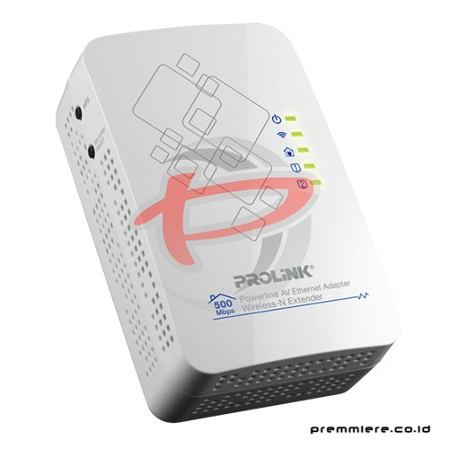 500Mbps Powerline AV Adapter with 300Mbps Wireless-N Access Point / Dual LAN Ports [PPL1501N]