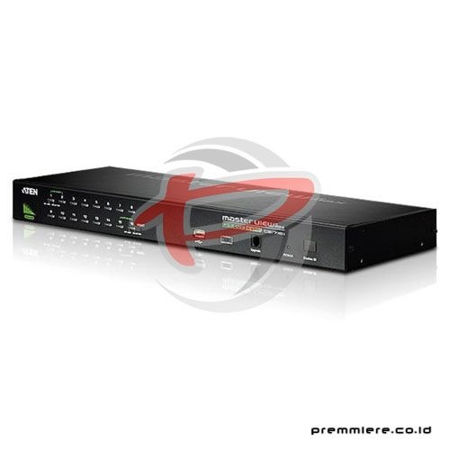 16-Port PS/2-USB VGA KVM Switch with Daisy-Chain Port and USB Peripheral  Support (CS1716A)