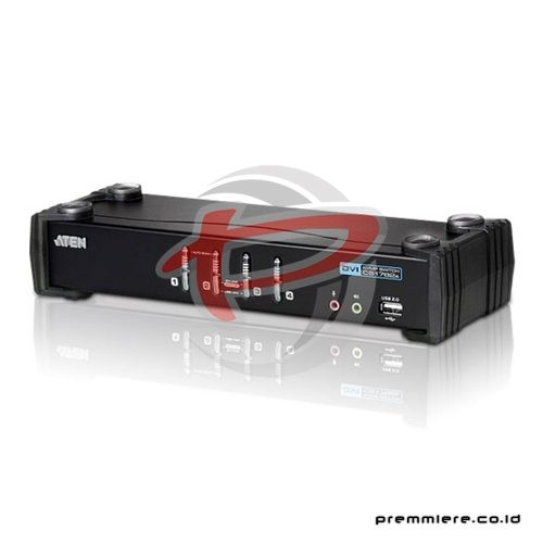 4 Port USB 2.0 DVI-I (single link) KVMP. 1920x1200. Audio (2.1 channel) - (CS1764A)
